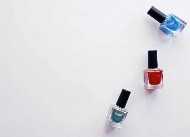 nail polish on white background